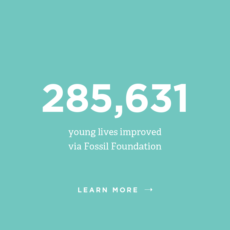285,631 young lives improved via Fossil Foundation