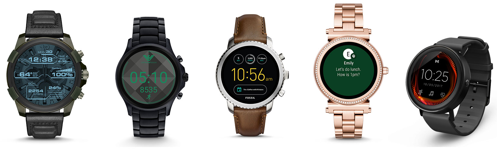 Fossil Group releases new full-round touchscreen smartwatches for Diesel, Emporio Armani, Fossil Q, Michael Kors and Misfit