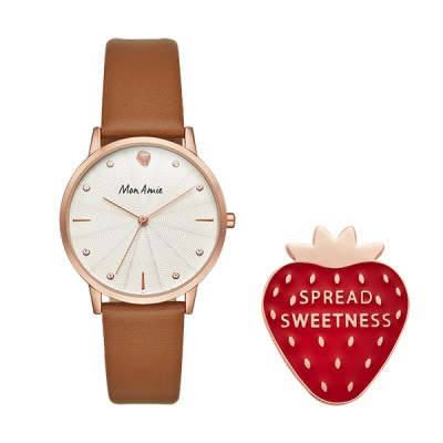 Purchase of this Mon Amie watch set supports the global hunger cause in partnership with WE Charity