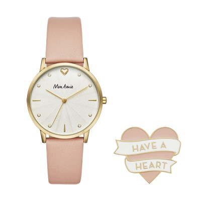 Purchase of this Mon Amie watch set supports the global health care cause in partnership with WE Charity