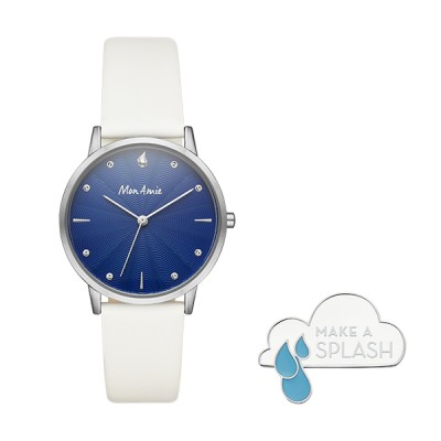 Purchase of this Mon Amie watch set supports the global water crises in partnership with WE Charity