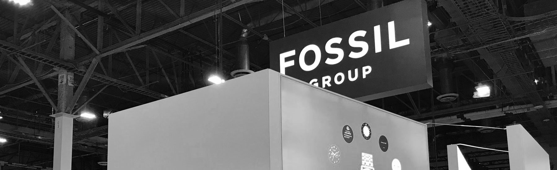Fossil Group showcase in Health and Wellness wing at CES 2018