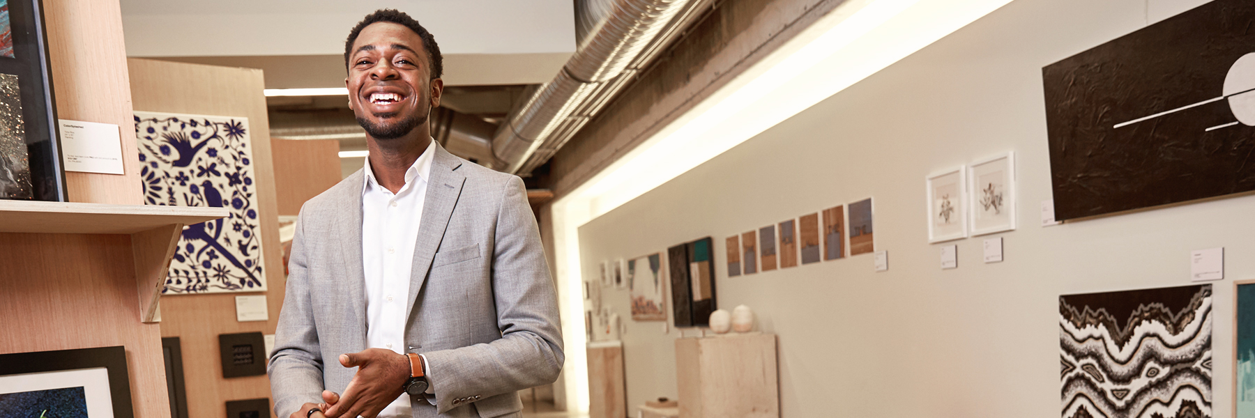Byron Sanders visits Fossil Group headquarters in Dallas for an interview