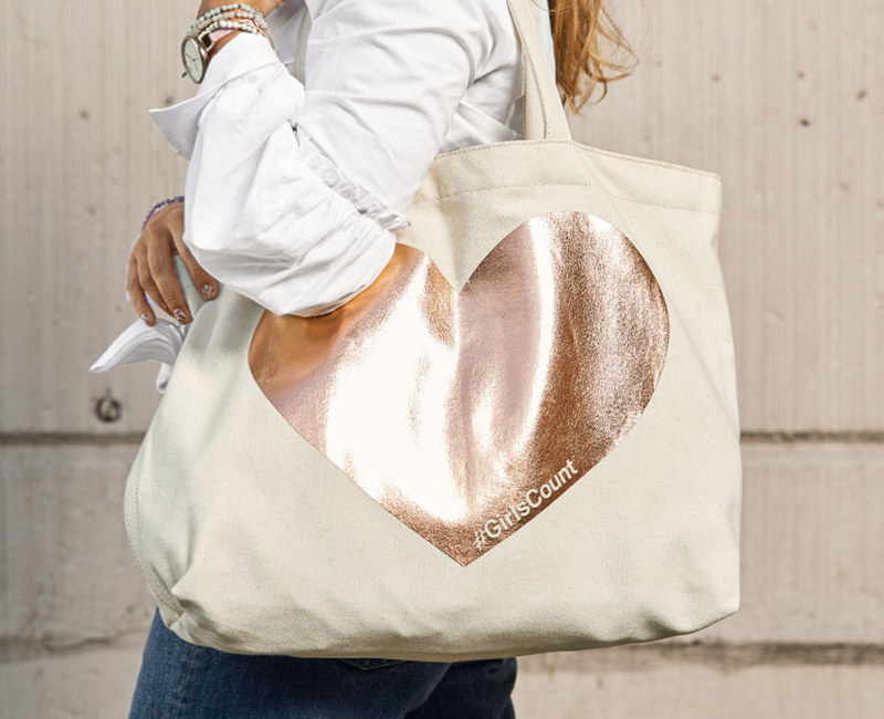 See the Fossil x Girls Count Tote bag on Fossil.com