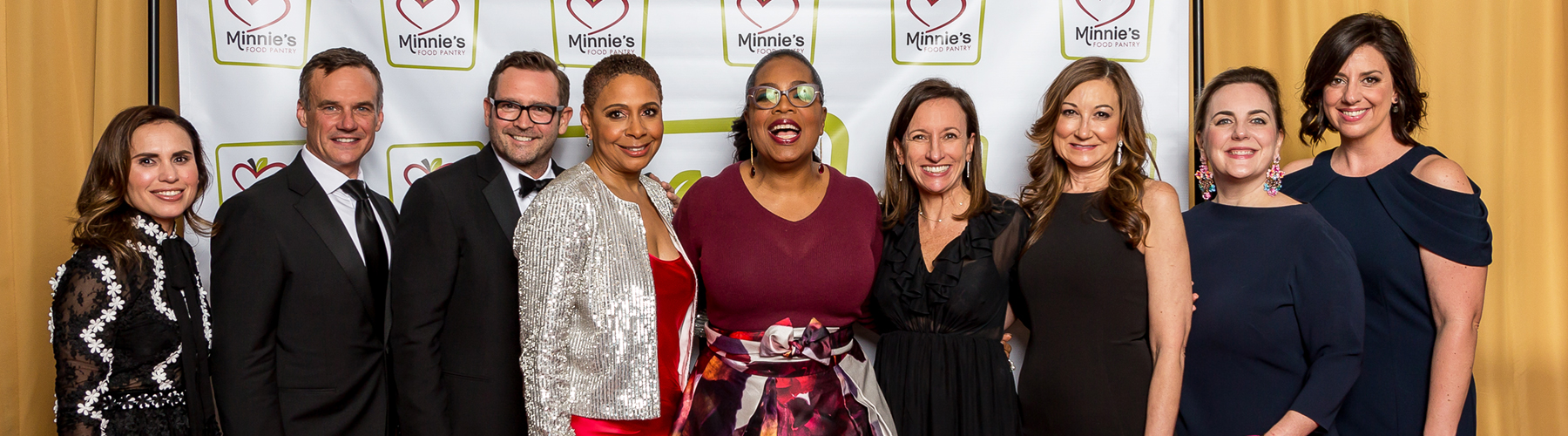 Oprah and members of Fossil Group at Minnies Food Drive Gala 2018
