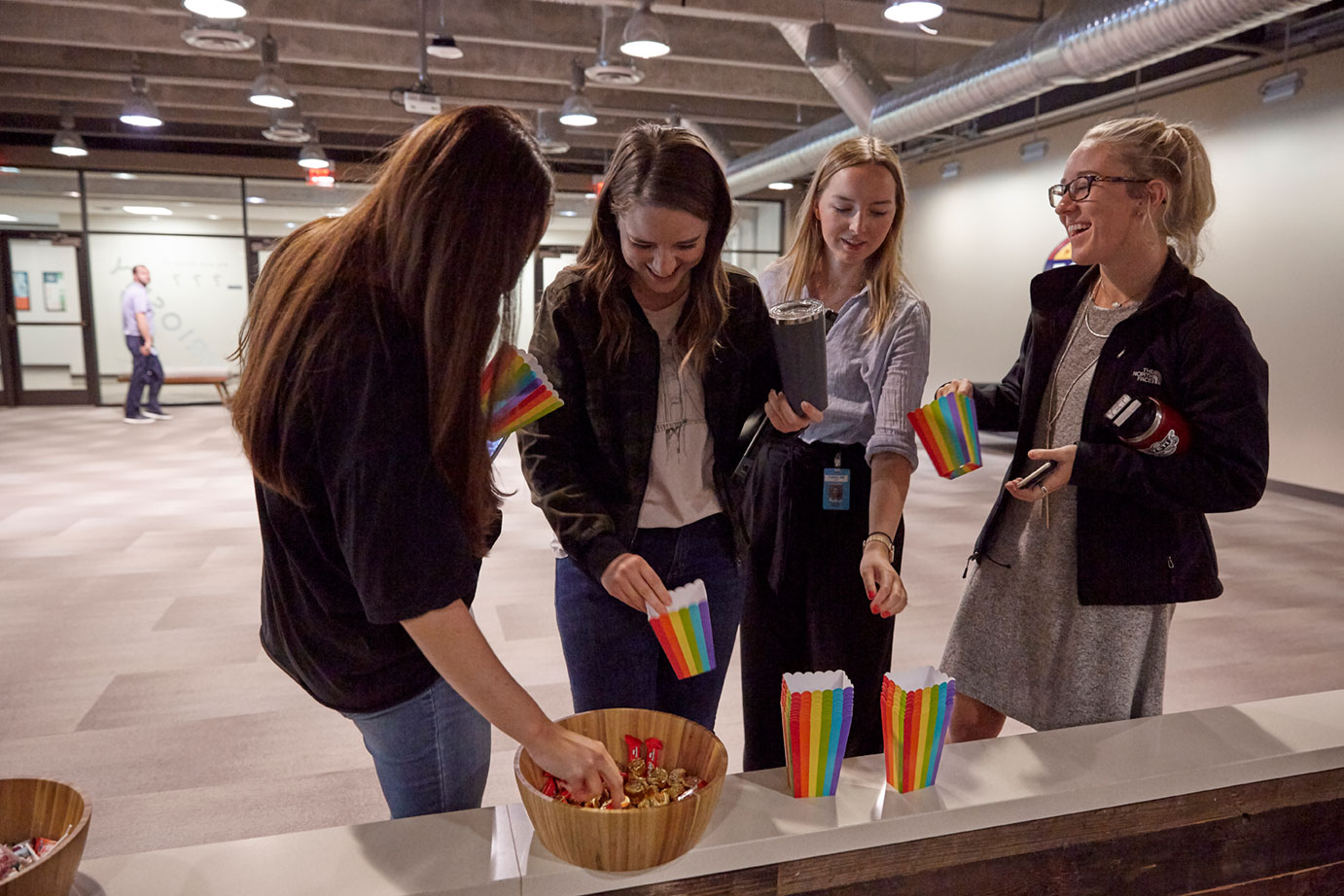 employees enjoy pride month gathering at Fossil Group