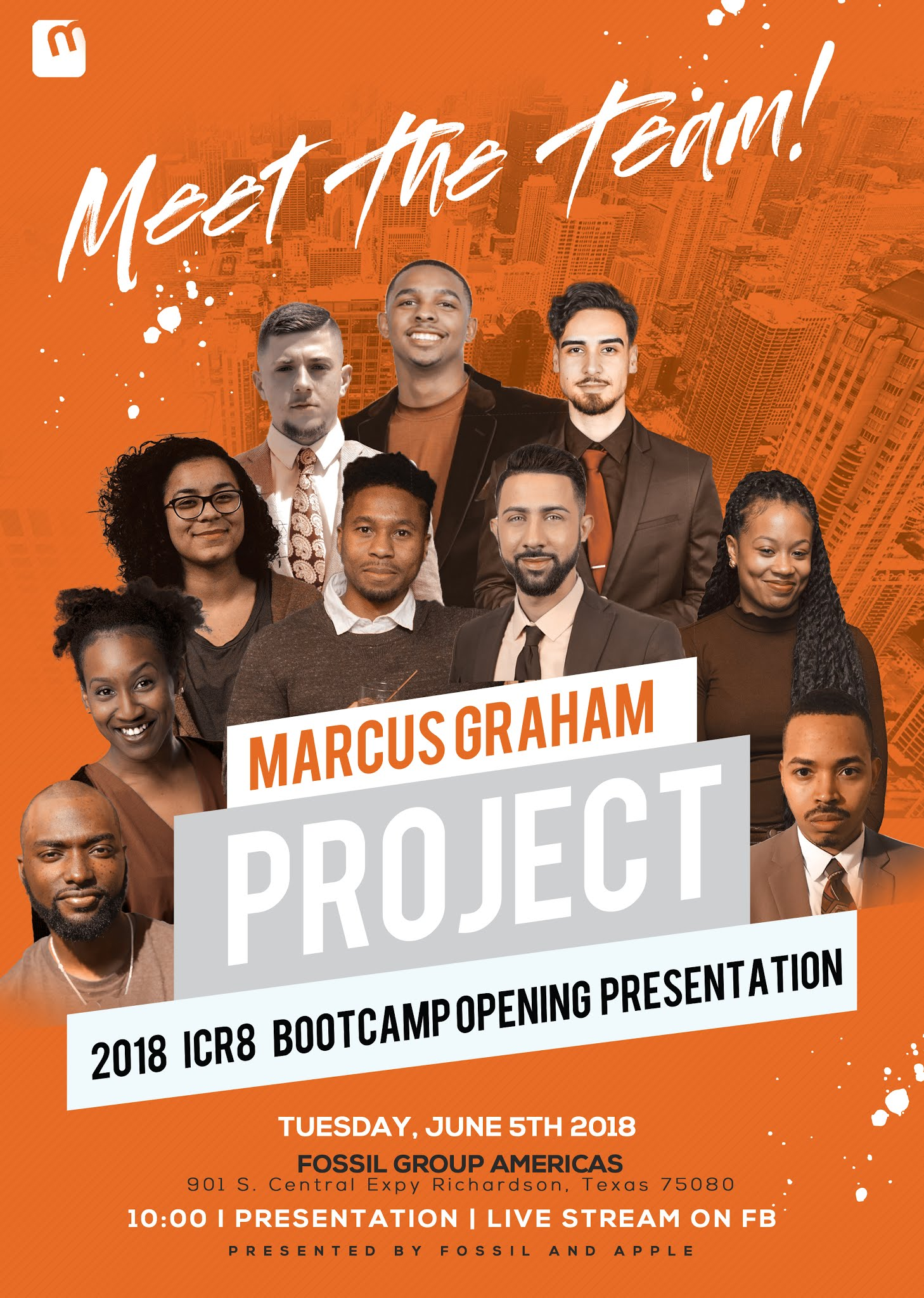 Meet the 2018 icr8 Marcus Graham Project intern class on Tuesday June 5