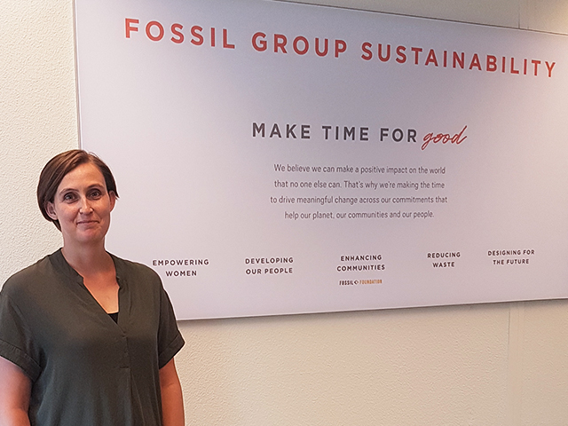 Alice Nap supports Fossil Group's Make Time For Good commitments