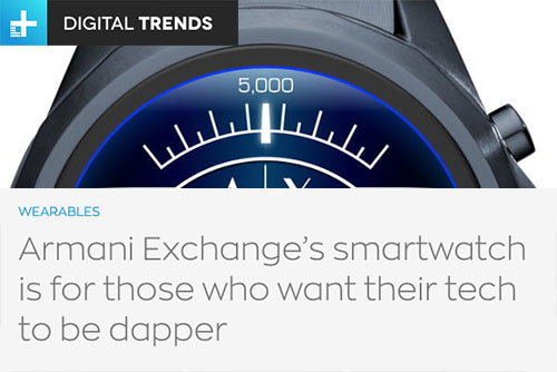 0d310ec9c89 Here is a glimpse into some early press reactions to Armani Exchange  Connected!