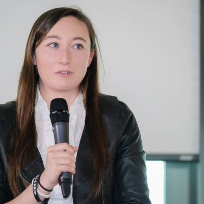 Ciara Judge shares her personal story at an IDG event at Fossil Group in Switzerland