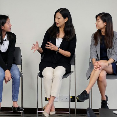 Hillary Yip and Michelle Kwok join Fossil Group employees in Hong Kong at IDG event