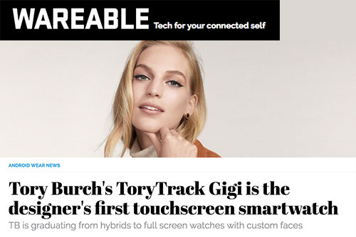 9a81252a63e Read Tory Burch s ToryTrack Gigi is the designer s first touchscreen  smartwatch on Wareable →