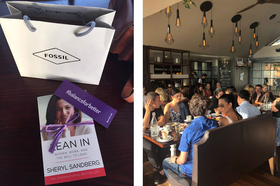 Fossil Group employees in Australis celebrate International Women's Day at a Lean In event