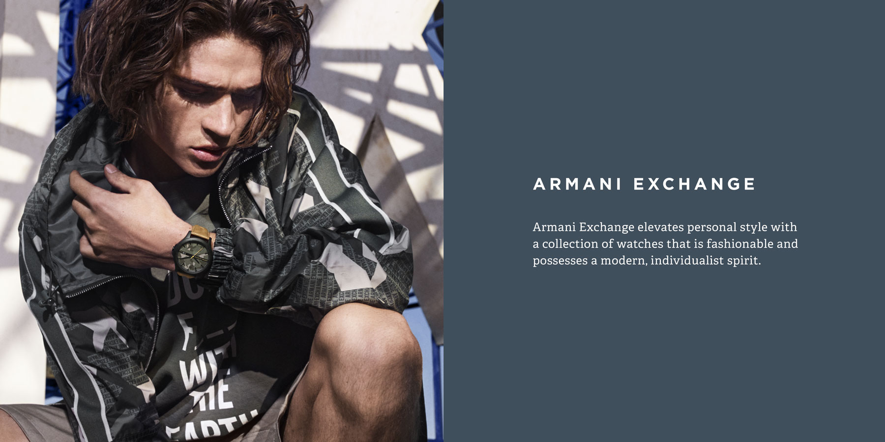 Armani Exchange elevates personal style with a collection of watches that is fashionable and possesses a modern, individualist spirit.