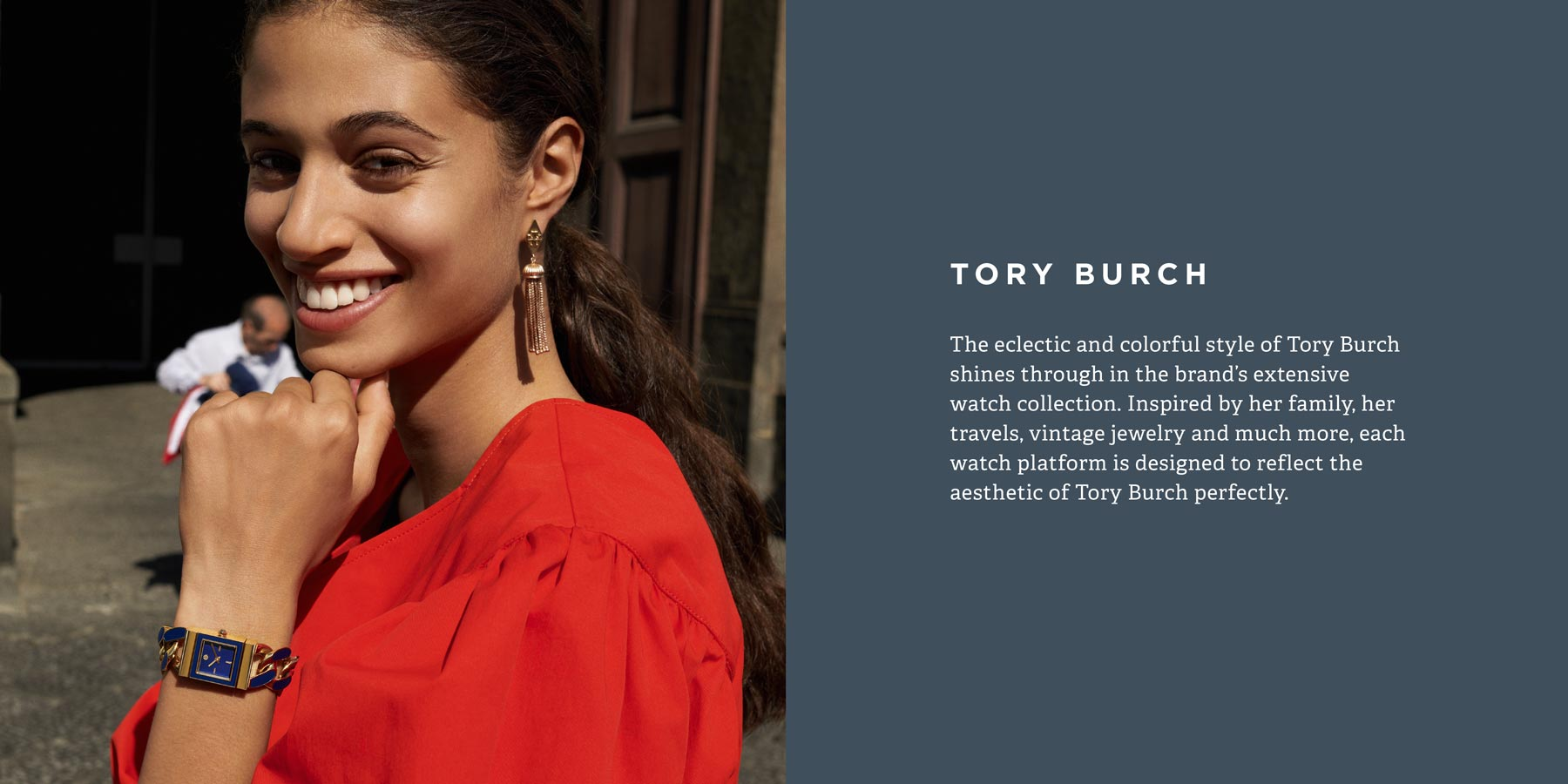The eclectic and colorful style of Tory Burch shines through in the brand's extensive watch collection.